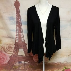 Avenue open front cardigan with lace details